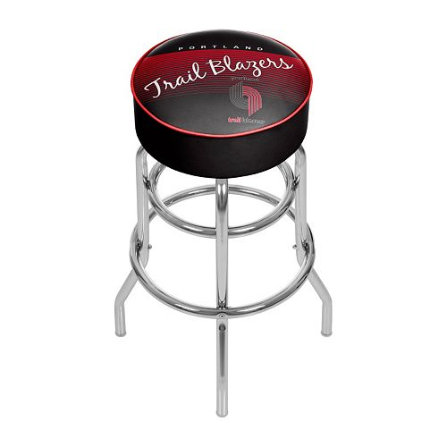 Portland Trail Blazers Hardwood Classics Padded Swivel Bar Stool