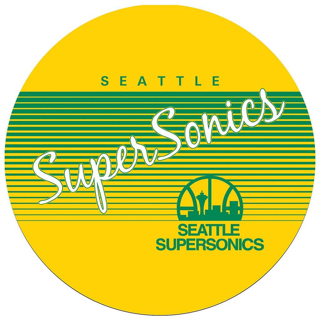 Seattle Super Sonics Hardwood Classics Padded Swivel Bar Stool