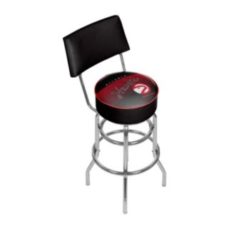 Atlanta Hawks Hardwood Classics Padded Swivel Bar Stool with Back