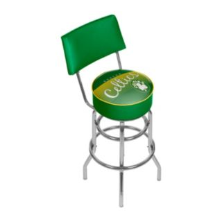 Boston Celtics Hardwood Classics Padded Swivel Bar Stool with Back