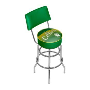 Boston Celtics Hardwood Classics Padded Swivel Bar Stool with Back