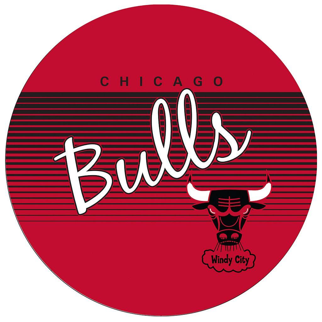 Chicago Bulls Hardwood Classics Padded Swivel Bar Stool with Back