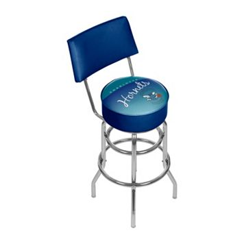 Charlotte Hornets Hardwood Classics Padded Swivel Bar Stool with Back