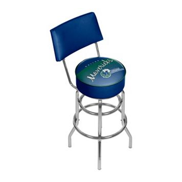 Dallas Mavericks Hardwood Classics Padded Swivel Bar Stool with Back