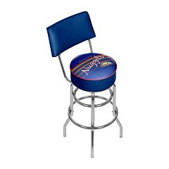 Denver Nuggets Hardwood Classics Padded Swivel Bar Stool with Back