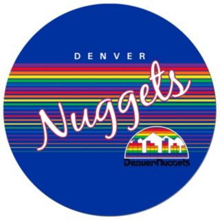 Denver Nuggets Hardwood Classics Padded Swivel Bar Stool with Back