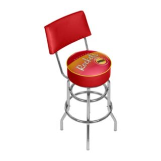 Houston Rockets Hardwood Classics Padded Swivel Bar Stool with Back