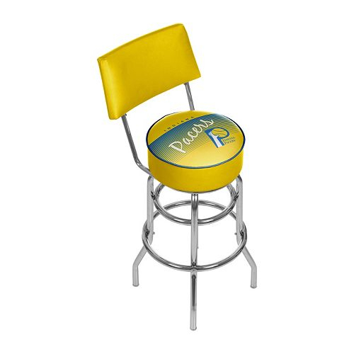 Indiana Pacers Hardwood Classics Padded Swivel Bar Stool with Back