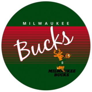 Milwaukee Bucks Hardwood Classics Padded Swivel Bar Stool with Back