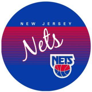 New Jersey Nets Hardwood Classics Padded Swivel Bar Stool with Back