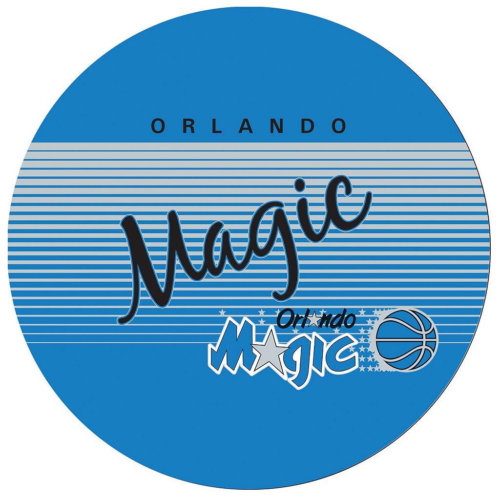 Orlando Magic Hardwood Classics Padded Swivel Bar Stool with Back