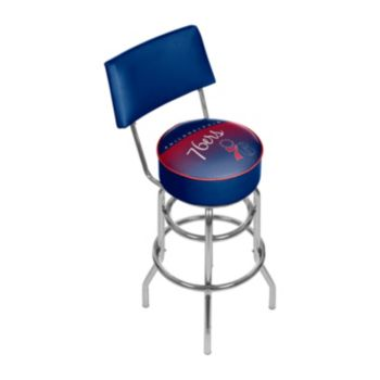 Philadelphia 76ers Hardwood Classics Padded Swivel Bar Stool with Back