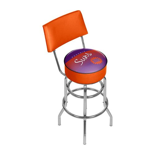Phoenix Suns Hardwood Classics Padded Swivel Bar Stool with Back