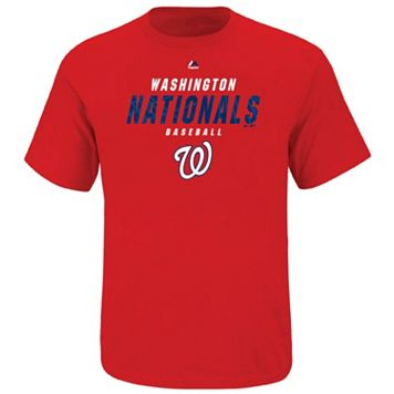 Big & Tall Majestic Washington Nationals All the Way Game Synthetic Tee