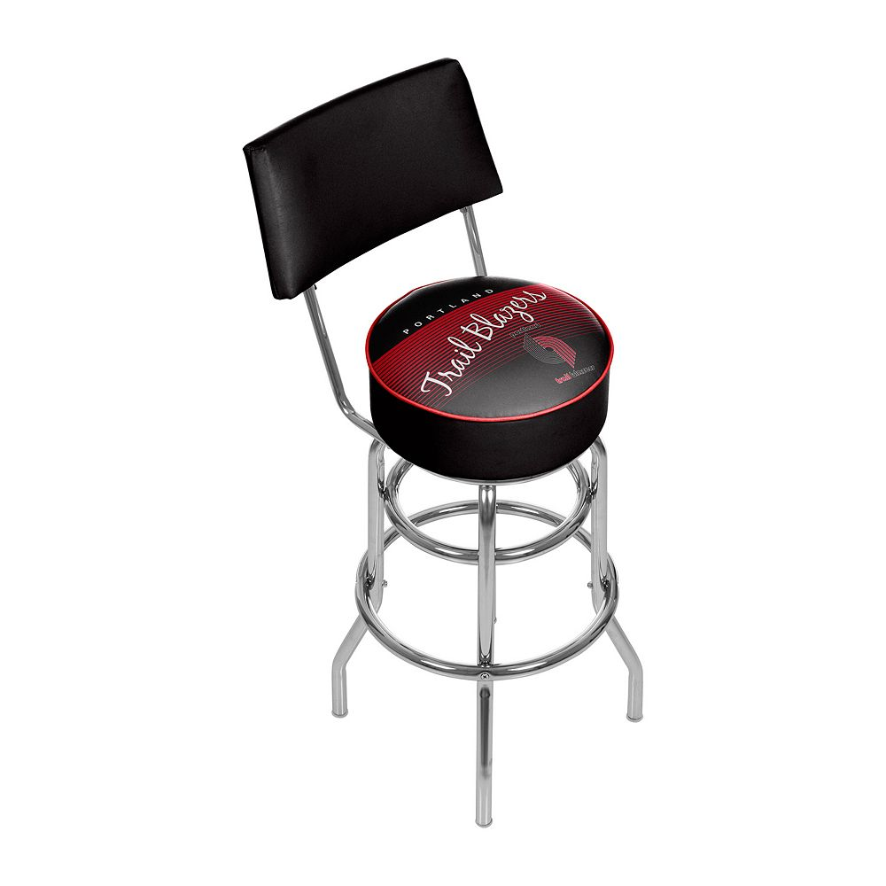 Portland Trail Blazers Hardwood Classics Padded Swivel Bar Stool with Back