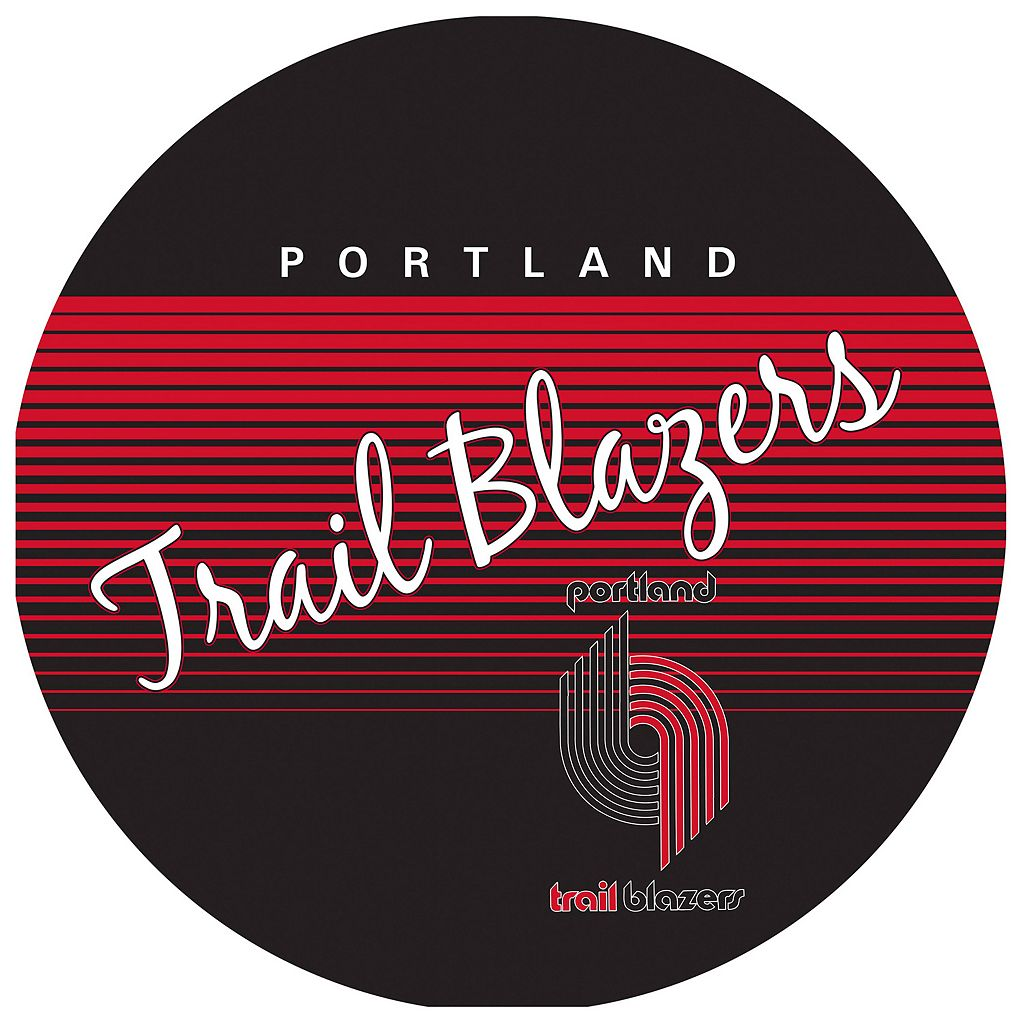 Portland Trail Blazers Hardwood Classics Padded Swivel Bar Stool with Back