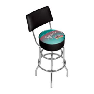 San Antonio Spurs Hardwood Classics Padded Swivel Bar Stool with Back
