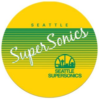 Seattle Super Sonics Hardwood Classics Padded Swivel Bar Stool with Back