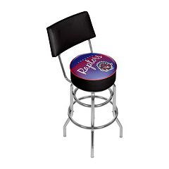 Toronto Raptors Hardwood Classics Padded Swivel Bar Stool with Back