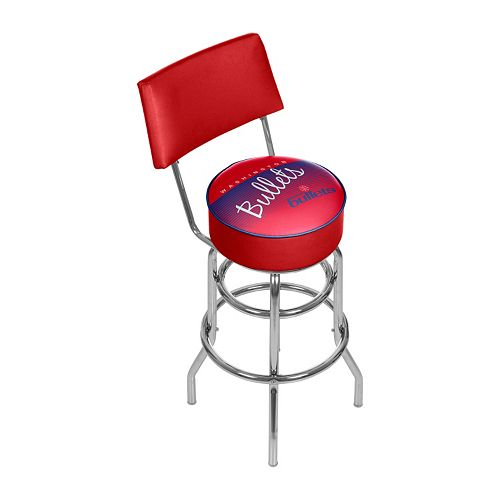 Washington Bullets Hardwood Classics Padded Swivel Bar Stool with Back