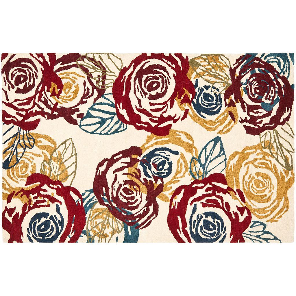 Safavieh Soho Ivory Floral Wool Rug