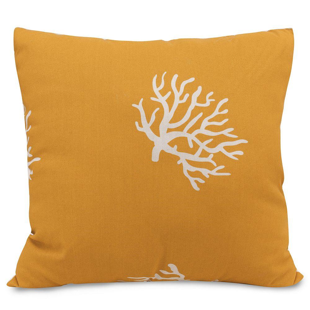 Majestic Home Goods Coral Indoor Outdoor Throw Pillow