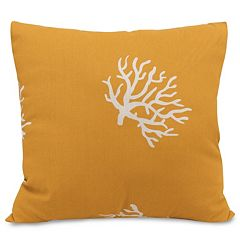 Majestic Home Goods Coral Indoor Outdoor Throw Pillow