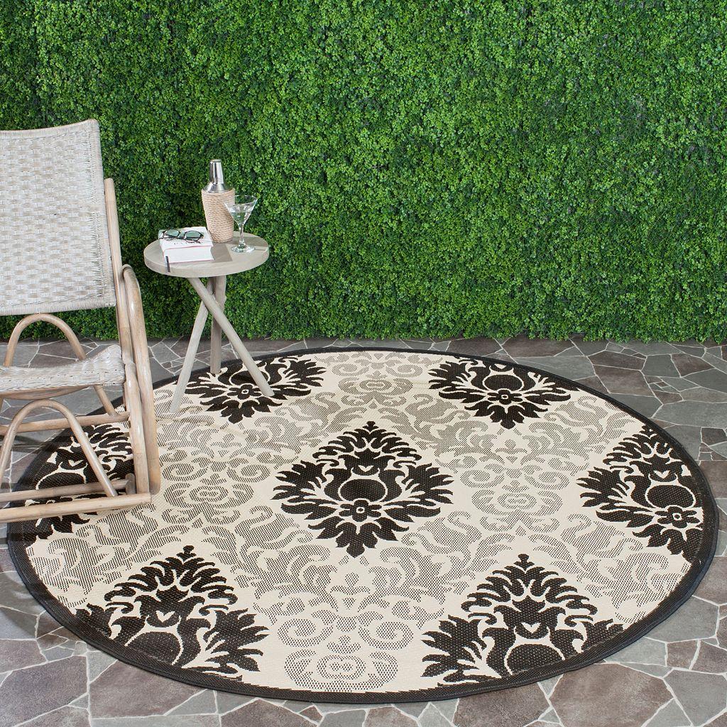 Safavieh Courtyard Damask Indoor Outdoor Rug