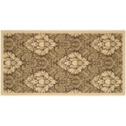 Safavieh Courtyard Damask Indoor Outdoor Rug