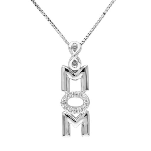 Stella Grace Diamond Accent Sterling Silver Mom Infinity Pendant Necklace