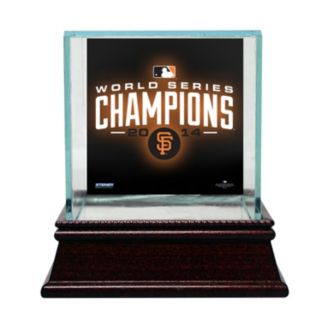 Steiner Sports Glass Single Baseball Display Case with San Francisco Giants 2014 World Series Champions Logo Background