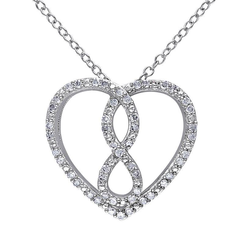 heart shaped diamond necklace kohls