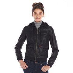 Womens Faux Leather Coats &amp Jackets - Outerwear Clothing | Kohl&39s