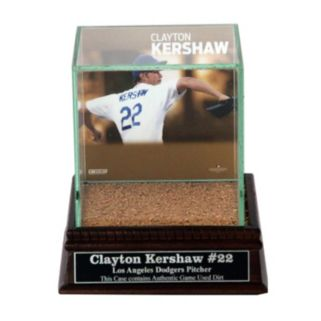 Steiner Sports Los Angeles Dodgers Clayton Kershaw Single Baseball Display Case with Authentic Field Dirt
