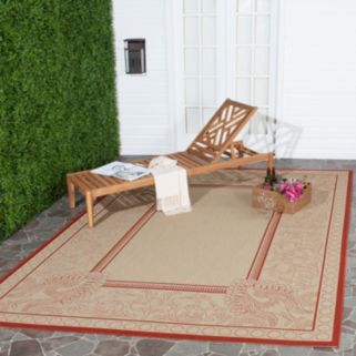 Safavieh Courtyard Peacock Indoor Outdoor Rug