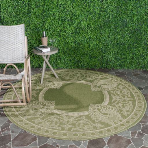 Safavieh Courtyard Peacock Indoor Outdoor Rug
