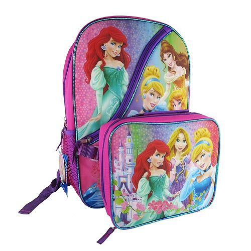Disney Princess Backpack   Lunch Bag Set - Kids 0fd0db7b12838