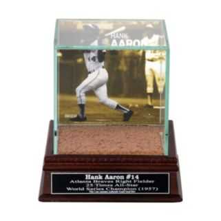 Steiner Sports Atlanta Braves Hank Aaron Single Baseball Display Case with Authentic Field Dirt