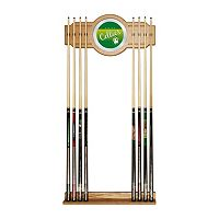Boston Celtics Hardwood Classics Billiard Cue Rack with Mirror