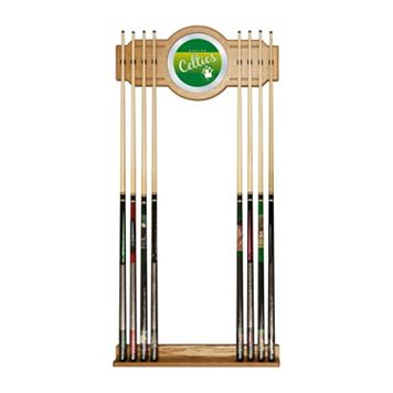 Boston Celtics Hardwood Classics Billiard Cue Rack with Mirror