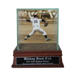 Steiner Sports New York Yankees Whitey Ford Single Baseball Display Case with Authentic Field Dirt