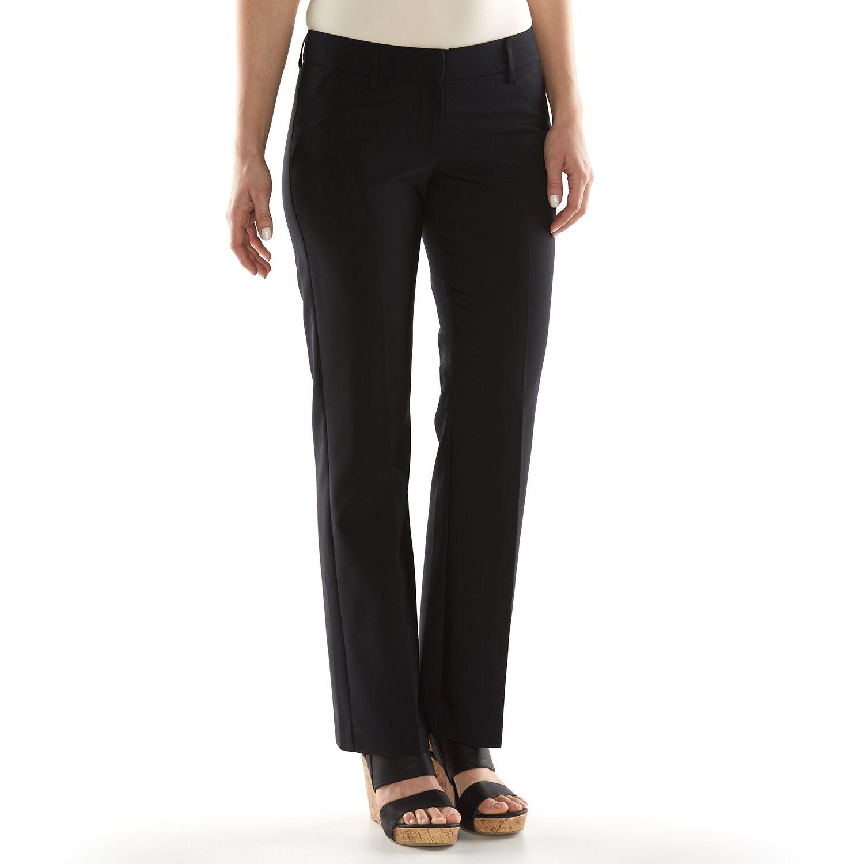 Apt 9 black dress pants long length