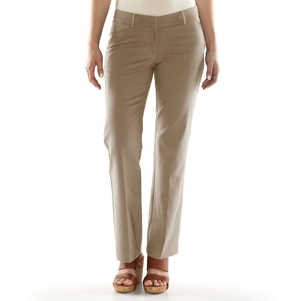 Women's Apt. 9® Torie Modern Fit Straight-Leg Dress Pants