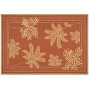 Safavieh Courtyard Leaf Indoor Outdoor Rug