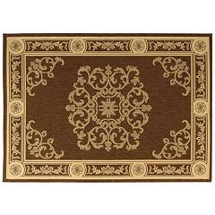 Safavieh Courtyard Medallion Indoor Outdoor Rug