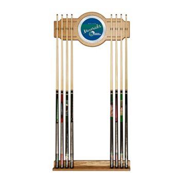 Dallas Mavericks Hardwood Classics Billiard Cue Rack with Mirror