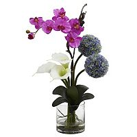 nearly natural Calla, Orchid & Ball Flower Arrangement