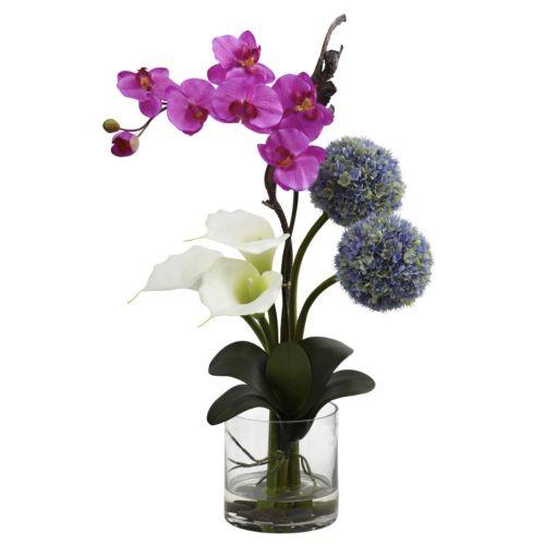nearly natural Calla, Orchid & Ball Flower Arrangement