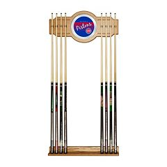 Detroit Pistons Hardwood Classics Billiard Cue Rack with Mirror