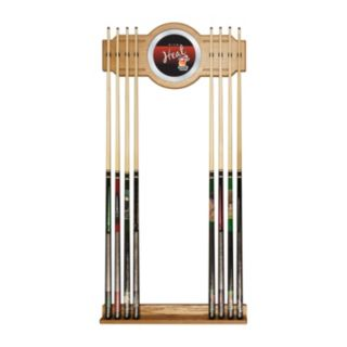Miami Heat Hardwood Classics Billiard Cue Rack with Mirror